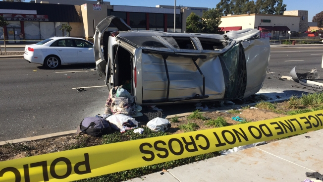 1 Killed, 1 Badly Hurt in 5-Car Hit-and-Run Crash in Torrance