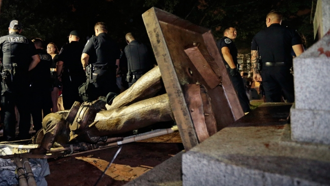 Confederate Statue on UNC Campus Toppled by Protestors