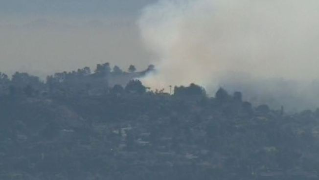 Brush Fire Burns Off 57 Freeway in San Dimas Area