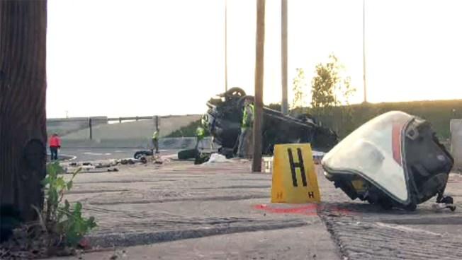 Driver Killed in Rollover Crash on West LA 405 Freeway Ramp - NBC