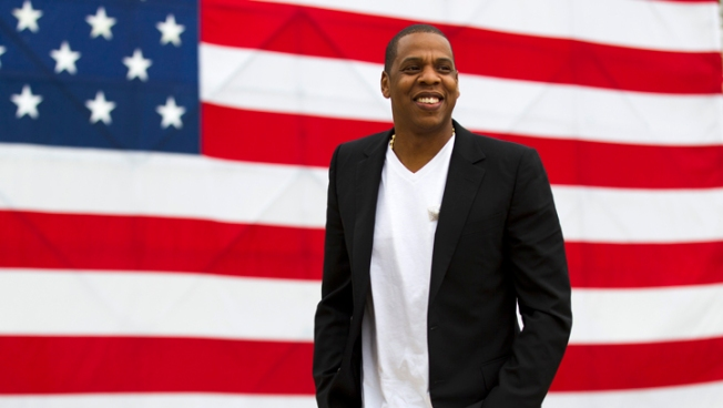 Jay-Z Mimics Rocky at Philly Made In America Fest