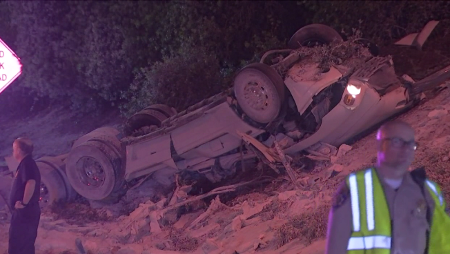 Crash Involving Overturned Semitrailer Kills One in Pasadena