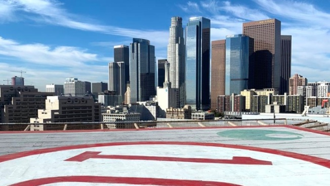 DTLA Hotel Offers Helipad for Valentine's Proposals