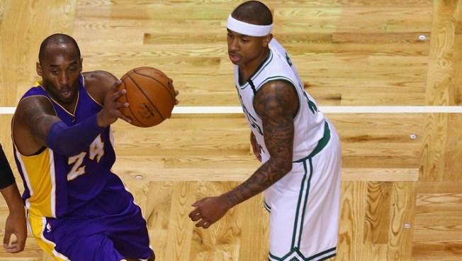 94389fd9b3e4 Kobe Bryant Helping Celtics Isaiah Thomas Behind the Scenes - NBC ...