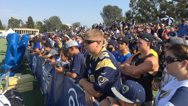 LA Rams Draw 10,112 Fans at Training Camp