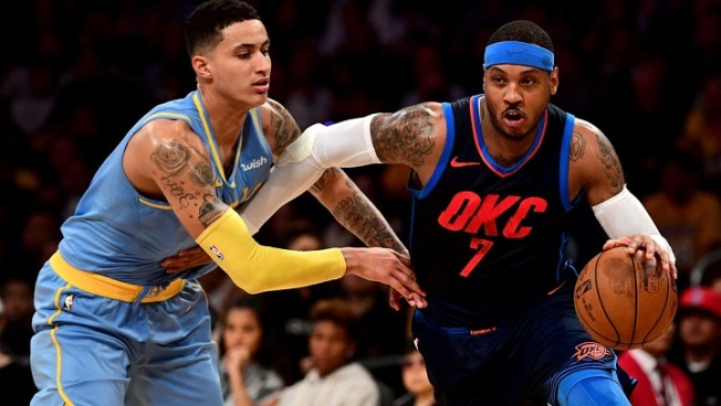 Adams, Thunder dominate the glass to cruise to win over Lakers