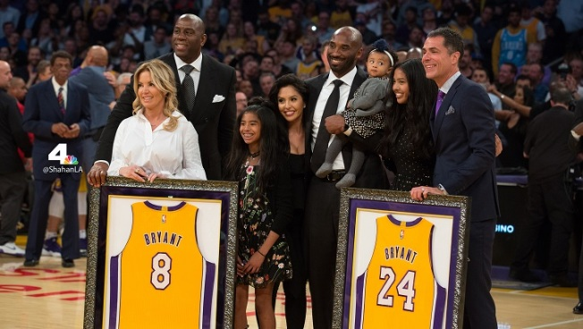 Lakers Lose in OT on Kobe Bryant Jerseys Retirement Night - NBC ... 52cf3cbe3
