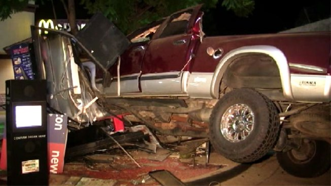 Truck Crashes Into OC McDonald's Drive-Thru