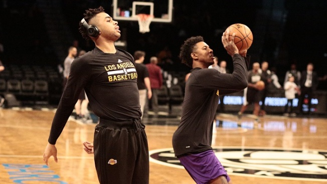 NBA Fines Lakers Nick Young, D'Angelo Russell For Scuffle