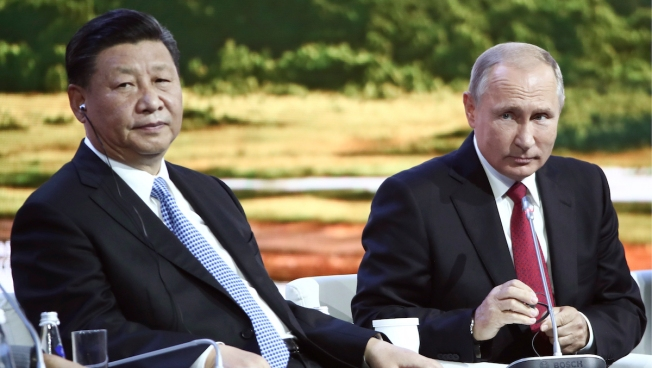 China, Russia Embrace Uneasily, Aim for 'Desirable World Order'