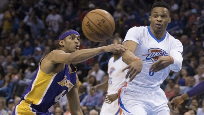 Kobe Bryant Recruiting Russell Westbrook to Lakers  - NBC Southern ... 9da4ac219