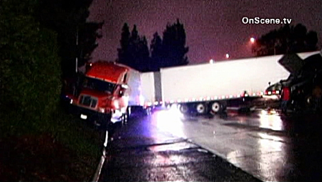 Big Rig Crashes Snarl Morning Commute in Pasadena