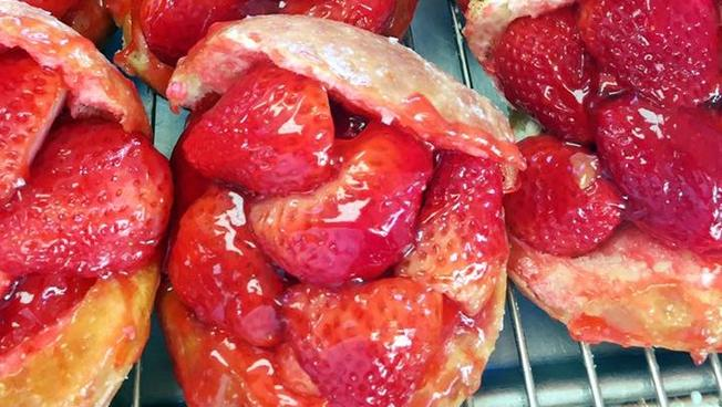 Last Chance for The Donut Man's Strawberry Doughnuts