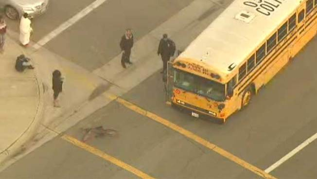 School Bus Strikes Bicyclist in Fontana
