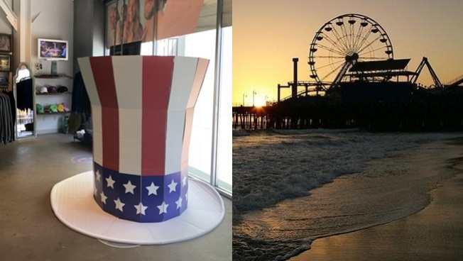 It's a Star-Spangled Santa Monica Sweepstakes