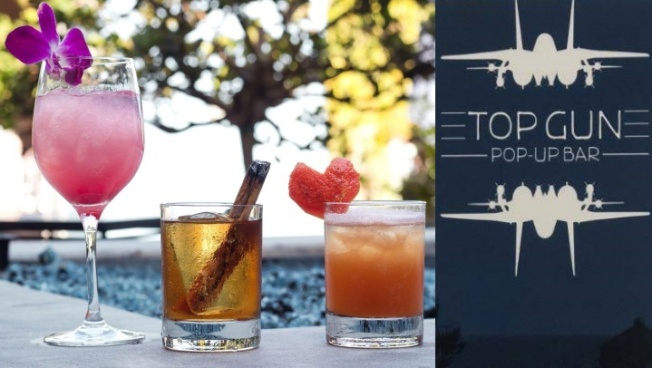 'Top Gun' Pop-up Bar Wings by Huntington Beach