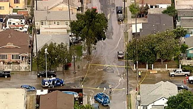 Water Main Break Floods South LA Streets