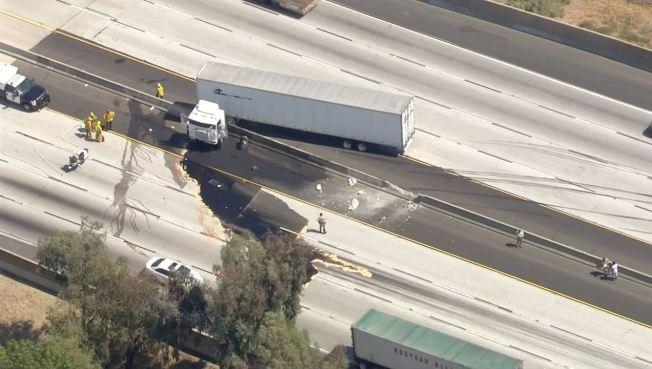 Big Rig Crash Snarls 210 Freeway Near Lake View Terrace