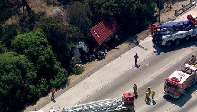 Freeway Cleanup Crew Members Injured in Diamond Bar Crash