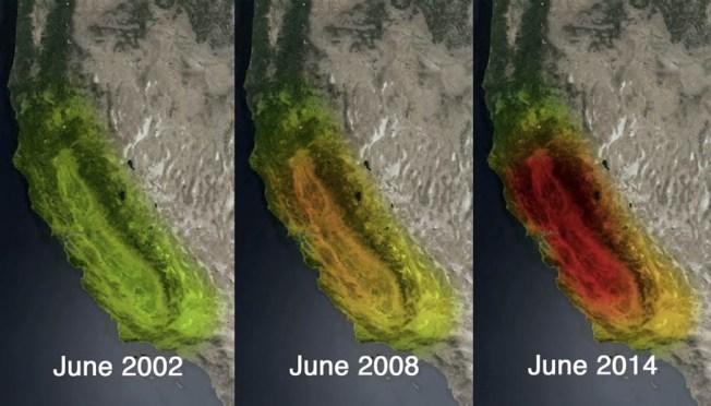 NASA Satellite Images Show Severity of California Water Storage Loss