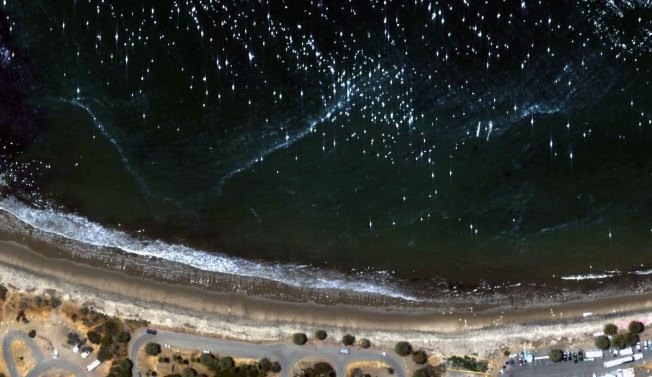 NASA Releases Images of Beaches Tarred from Pipeline Oil Spill in May