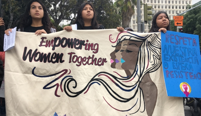 A Look at the International Women's Day March in Downtown LA