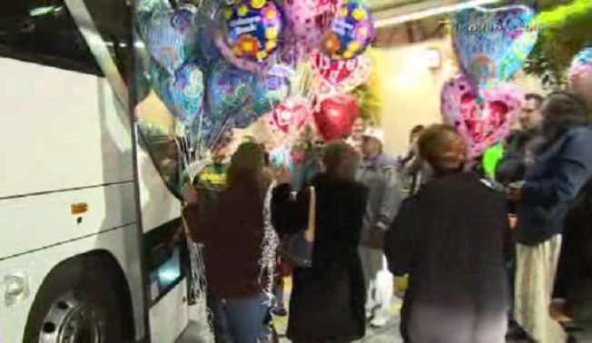 Emotional Return for Students on Other Bus in Northern California