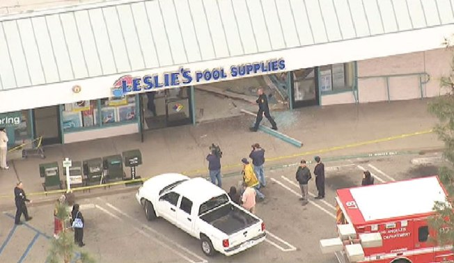 Driver Crashes Into Pool Supply Store