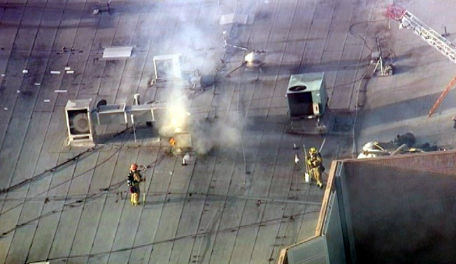 Firefighters Respond to Fire on Glendale Galleria Roof