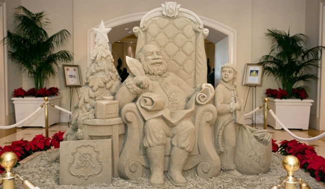 The St. Regis Monarch Holiday Sand Sculpture