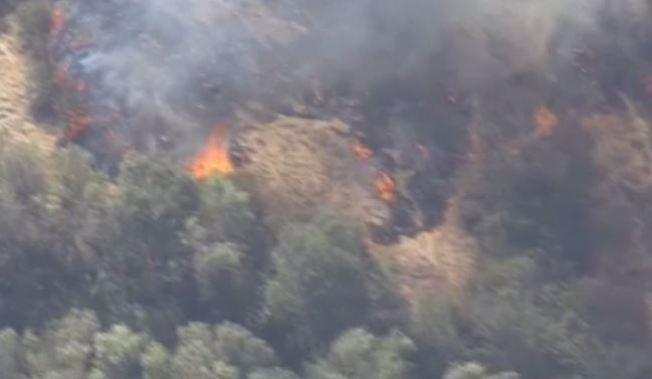 Calabasas Brush Fire Burns About 10 Acres