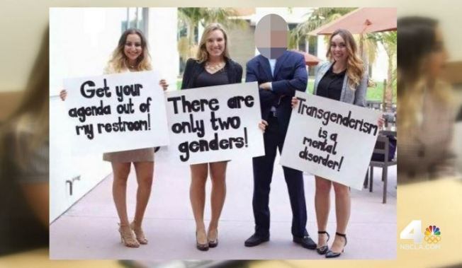 controversy over ucla students anti transgender bathroom signs