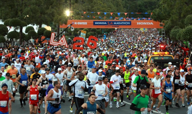 LA Marathon: Record in the Rain