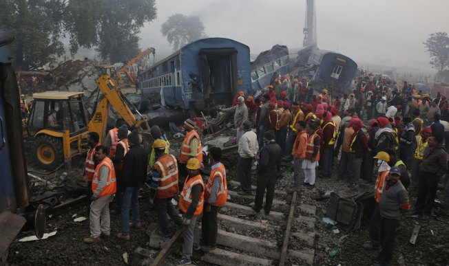 Search for Bodies at Indian Train Crash Site Ends; At Least 146 Dead