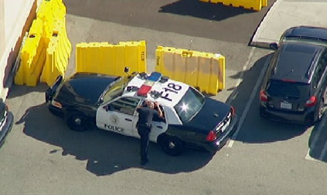 Police Chase Ends at Fullerton College