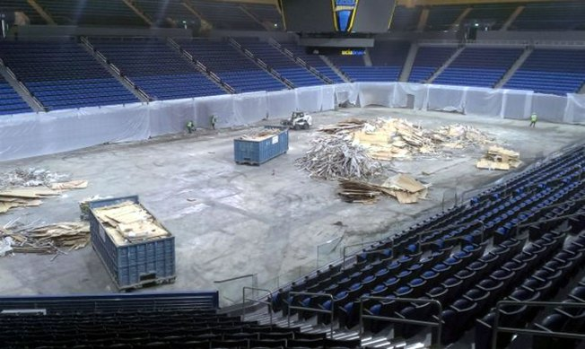 "Pauley Pavilion Court Removed, UCLA ""Getting Back to Normal"""