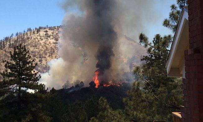 Evacuations Lifted for Wrightwood Fire Area