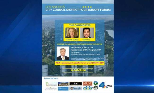 NBC4 Chief Political Reporter Conan Nolan to Moderate LA City Council District 4 Candidate Forum