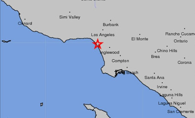 3.1 Earthquake Hits Los Angeles County Coast