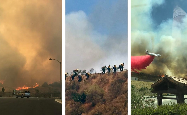 [la gallery] Brush Fire Burns in Santa Clarita: Photos From Around SoCal