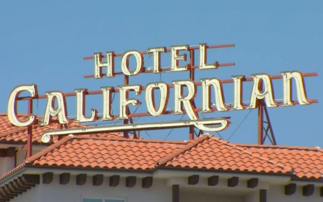 Hotel Californian Sign Shines Once More Atop New Affordable Housing Complex