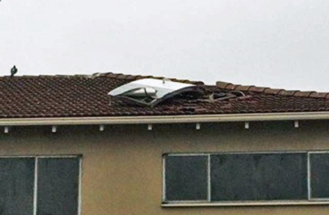 Door Falls Off Plane, Lands on Monterey Motel Roof