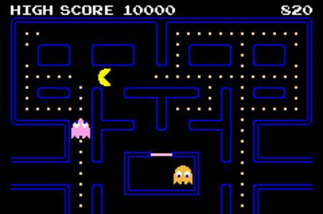 Pac-Man Chomps Chomps Chomps at Google