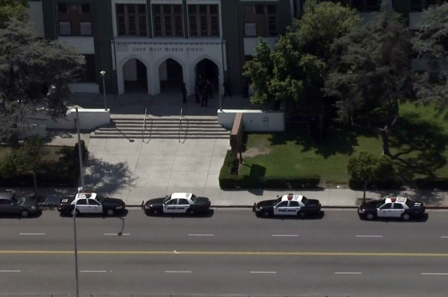 person with gun reported at la u0026 39 s john muir middle school