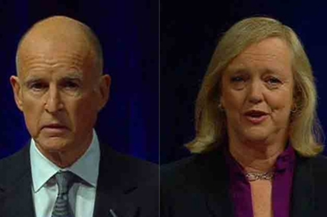 "Jerry Brown Offers Apology to Meg Whitman After Using ""Salty"" Language"