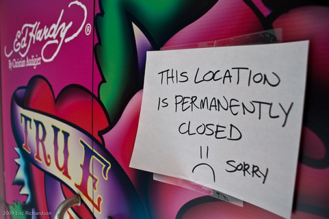 Sweetest Goodbye: Ed Hardy Outlet Closes on Spring