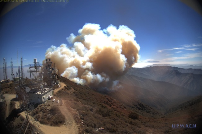 Holy Fire Flares Up in Cleveland National Forest