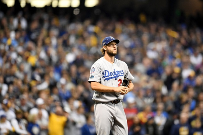 Clayton Kershaw Collapses, Dodgers Commit Four Errors, as LA Drops Game 1 of NLCS, 6-5, in Milwaukee