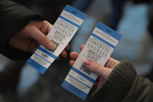 Free Tickets for Obama's Farewell Speech in Chicago Being Sold for Thousands