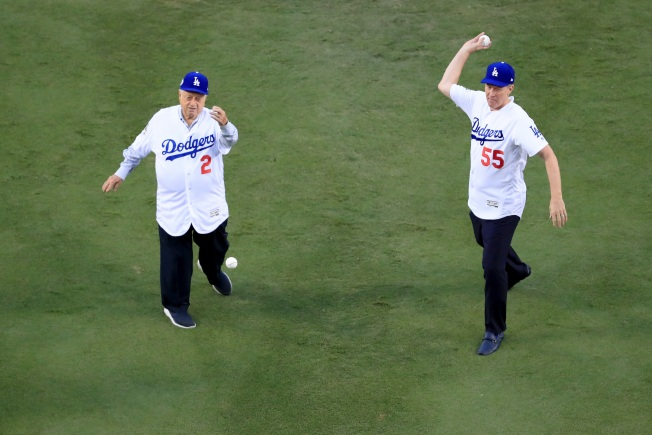 [la gallery UPDATED 6/5] Photos: Adorable, Emotional and Sometimes Awkward Ceremonial First Pitches at Dodger Stadium